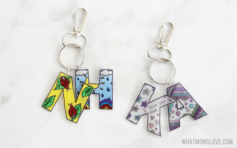 Shrink Film Keepsake Keychain A Unique Diy Gift For Mom