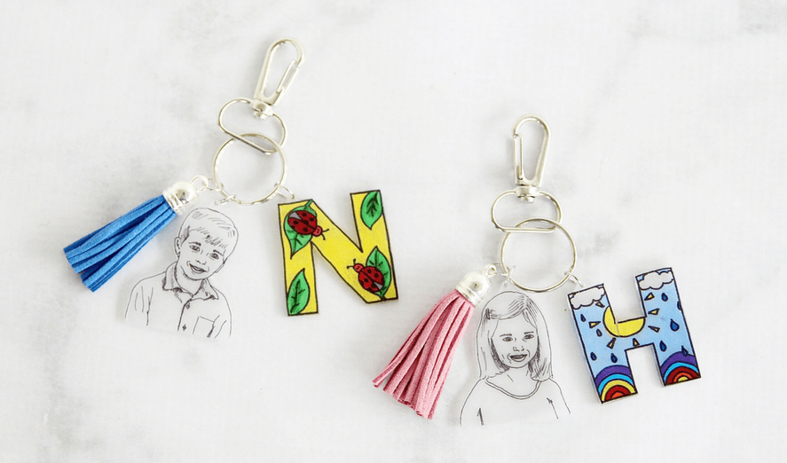 "Shrink Film Keepsake Keychain. A Unique <span class=""caps"">DIY</span> Gift For Mom <span class=""amp"">&</span> Grandma To Gush Over This Mother's Day."