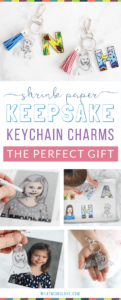 This easy to make Mother's or Father's Day craft for kids is the perfect homemade keepsake to give to mom, dad, grandma or grandpa. Use Shrinky Dinks to create a DIY initial and headshot keychain - they're simple to make but totally unique. Anyone can make them, from toddlers to teens. Makes a great last minute gift from the kids or grandkids for Mother's Day, Father's Day, Grandparents Day, birthdays or Christmas!