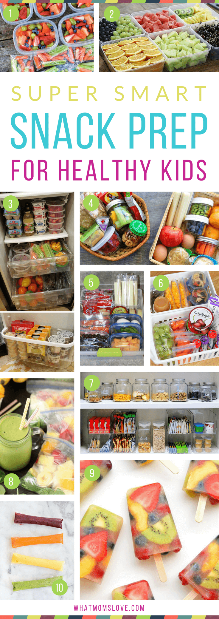 Healthy Snack Prep Ideas for Kids   Simple Organizational Tips For Clean Eating - perfect for over the summer or back to school. Snack bins, pantry and fridge organization, make-ahead snacks, and more!