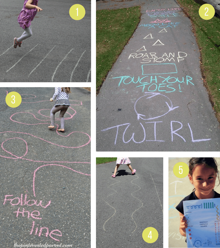 Sidewalk Chalk Ideas For Kids | Fun active outdoor games and activities for summer