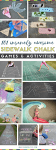 Sidewalk Chalk Ideas For Kids | Fun games and activities to play on your driveway or walkway including learning, educational and active play | Easy chalk art ideas that integrate your child - so cool! Great ideas for things to do over the summer to stop boredom before it starts.