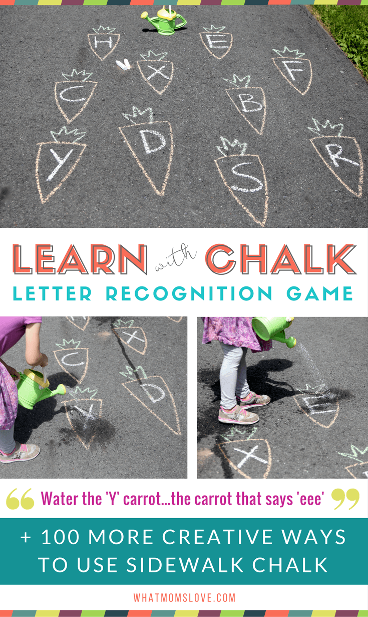 Sidewalk Chalk Ideas For Kids | Fun learning games and activities for summer