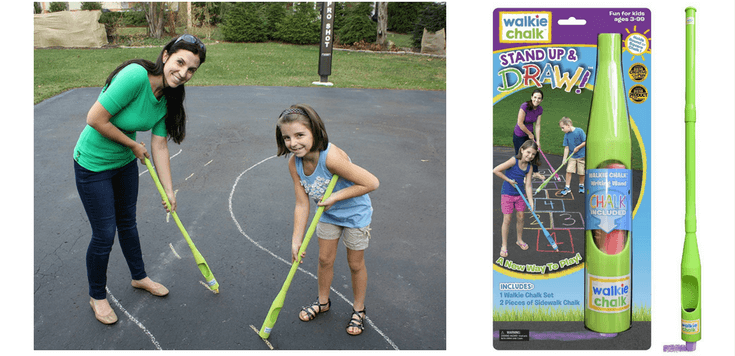 Sidewalk Chalk Ideas For Kids | Walkie Chalkie - such a cool product!