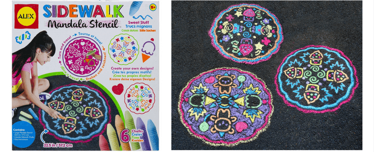 Easy Sidewalk Chalk Art Ideas For Kids | Mandala Stencil