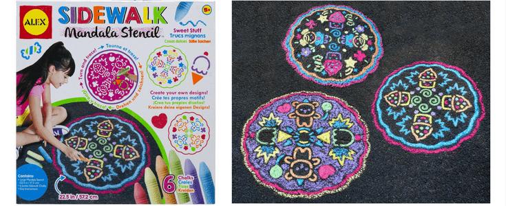 Easy Sidewalk Chalk Art Ideas For Kids | Mandala Stencil