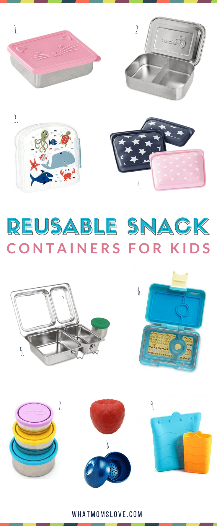 Best Reusable Snack Containers for Kids | Fun School Lunches | Back to School Guide