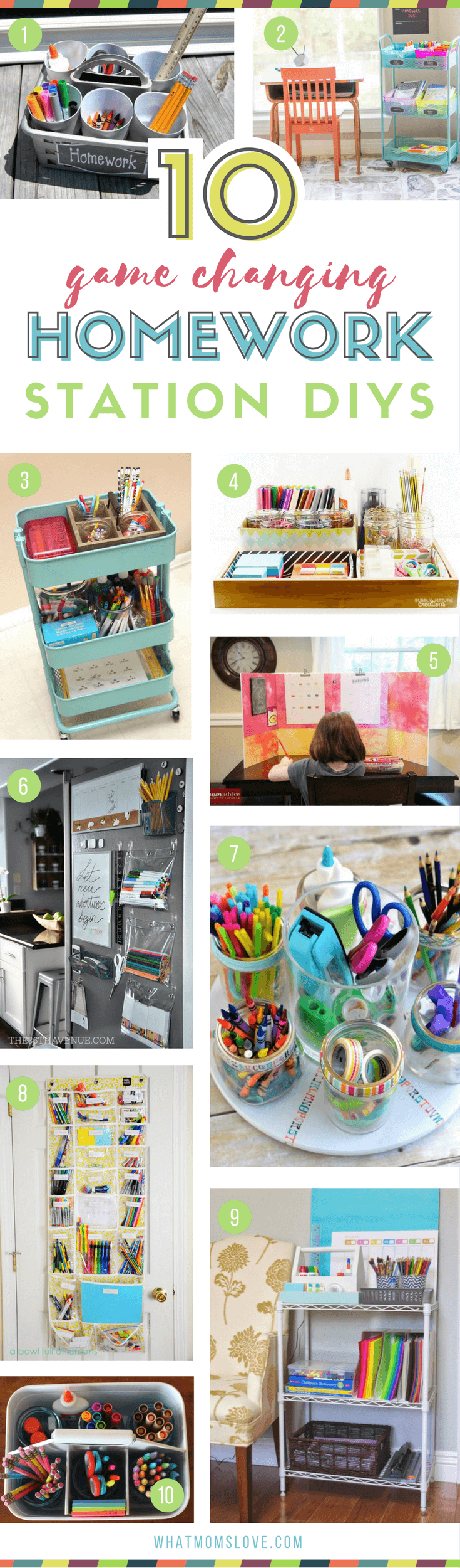 DIY portable Homework Stations for small spaces