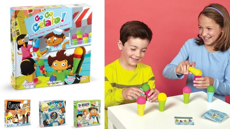 Best Board Games for Kids - Go Go Gelato review - what moms love