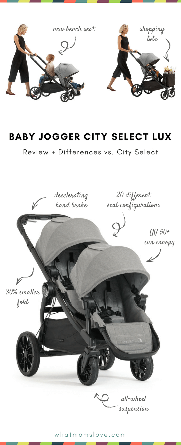 Save  sc 1 st  What Moms Love & Baby Jogger City Select Lux Review: The Super Adaptable Stroller ...