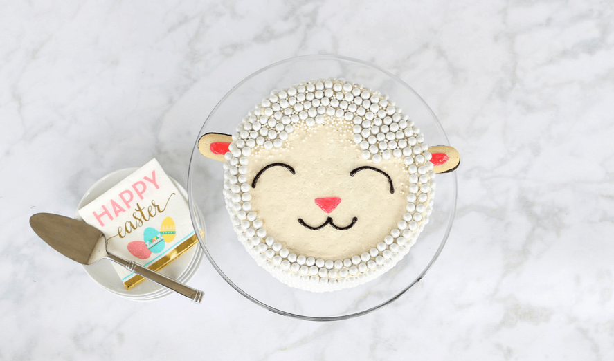 """Easy <span class=""""caps"""">DIY</span> Easter Lamb Cake Tutorial — ASimple Yet Stunning Dessert You Can Really Make!"""