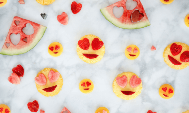Heart Eye Emoji Fruit Salad – AHealthy Valentine's Day (Or Any Day) Snack