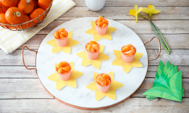 Daffodil Snack Cups. A Healthy Spring Treat Blooming with Pure Goodness.