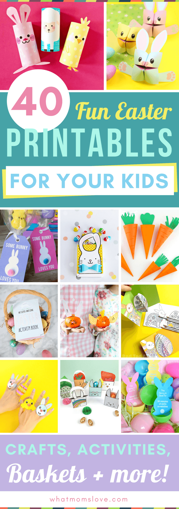 40 Fun Easter Printables for Kids – Crafts, Activities, Egg Hunts + ...
