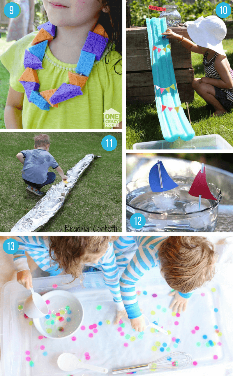 1c85f887dd6 (9) Have your kids make a Sponge Lei to wear for an instant cool down (via  One Crazy House)