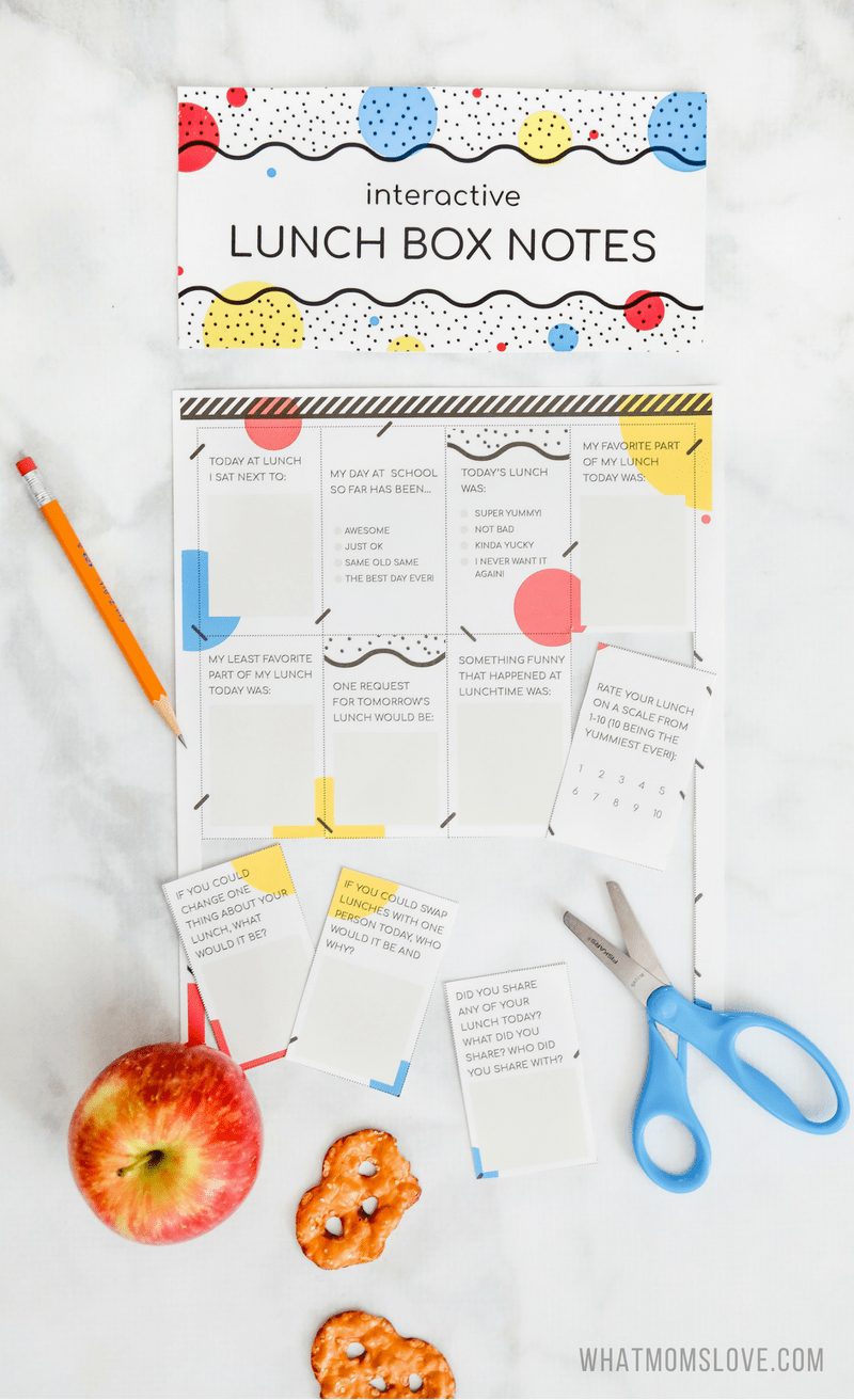 printable interactive lunch box notes that help answer your question