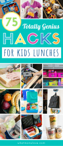 School Lunch Hacks For Kids   Lunchbox ideas to make packing your child a healthy school lunch simple. Easy DIYs, recipes and tips including weekly meal prep, setting up a snack station, creative lunchbox notes, how to keep food cold and hot, and more!