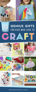 The Best Arts and Crafts Gifts for Kids | Fun top-rated art supplies for children, from toddlers to teens, who love crafts. These craft sets and kits are perfect for christmas, holiday or birthday gifts, or as a quiet time activity on a rainy day. Great for creative, artsy girls and boys!