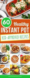 Healthy Instant Pot Recipes for Kids and Families | These meals are fast and simple to make and range from dinners with chicken, beef and turkey (hello Chili and meatloaf!), to lunches with easy soups and even breakfast ideas! Many of the recipes are Whole30 or Paleo compliant and all are kid-approved (even picky eaters!) and family friendly. #instantpot