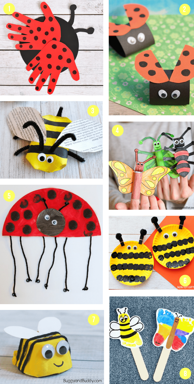 The Best Spring Crafts For Kids With Ladybugs Bumble Bees And More