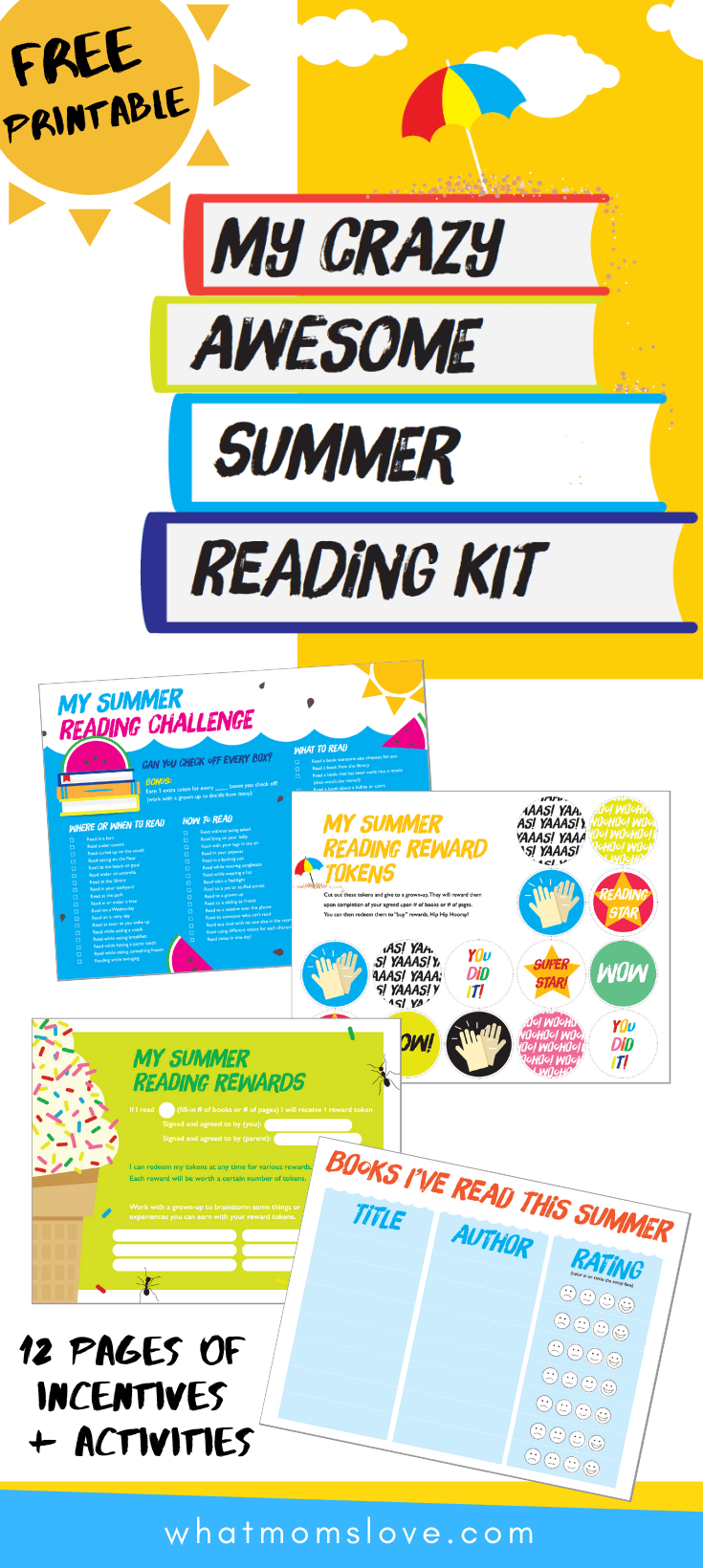 image relating to Books I've Read Printable named How In the direction of Purchase Your Young children Towards Read through This Summer season (With No cost