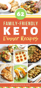 Family Friendly Keto Dinner Recipes | On the Ketogenic diet? These easy keto meals are perfect to serve to your whole family - they're low-carb and kid-friendly (even for picky eaters!). #keto