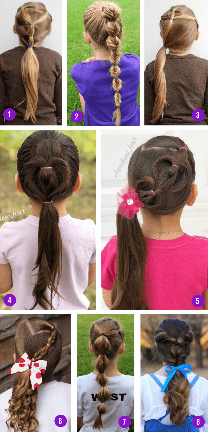 Easy Ponytail Hairstyles For Girls From Toddlers To Tweens