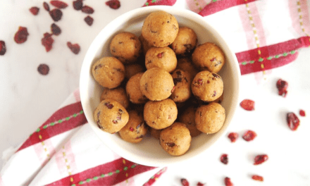 No-Bake Gingerbread Cranberry Protein Balls: Healthy Bites To Boost Your Energy For The Holidays.