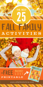 The best Fall Bucket List for families | Fun activities for your kids to do this Fall + free printable Fall Bucket List bingo game