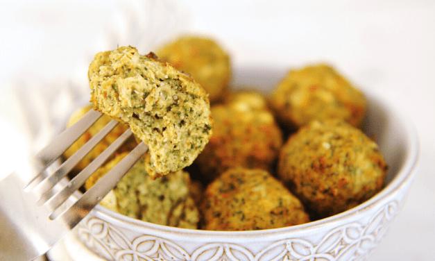Healthy Air Fryer Spanakopita Chicken Meatballs